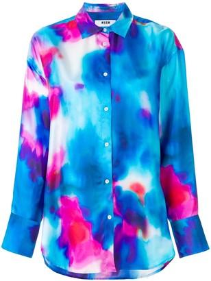 MSGM Oversize Dyed Shirt