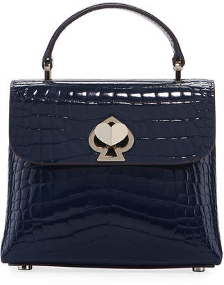 Kate Spade Romy Croc-Embossed Mini Top-Handle Bag