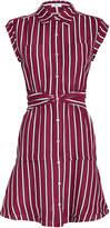 Derek Lam 10 Crosby Striped Twist Waist Shirt Dress