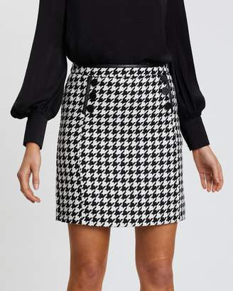 Wallis Dogtooth A-Line Skirt