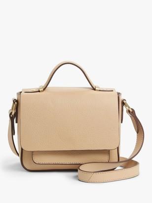 John Lewis & Partners Leather Top Handle Small Cross Body Bag