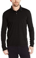 Velvet by Graham & Spencer Men's Tyson Classic Slub Long-Sleeve Polo Shirt