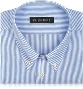 Forzieri Light Blue Striped Non Iron Cotton Dress Shirt