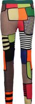 Moschino Patchwork-effect paneled wool leggings