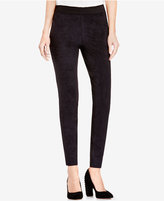 Vince Camuto TWO by Faux-Suede Ponte-Knit Leggings