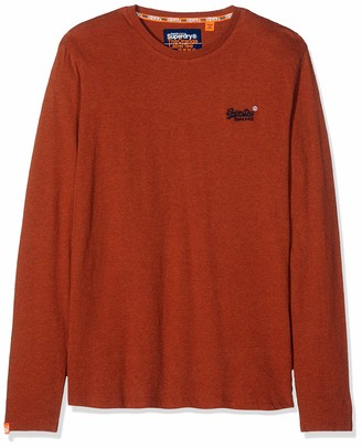 Superdry Men's Label Vintage Embroidery Ls Top Long Sleeve