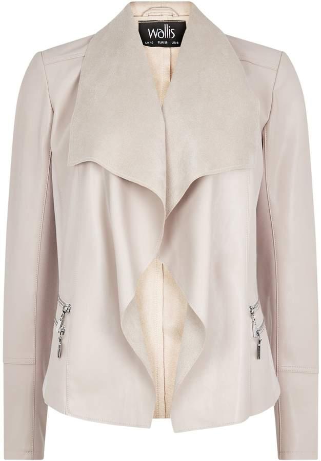 80a4f223e8 Nude Leather Jacket - ShopStyle UK