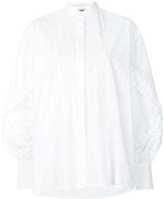 MSGM Ruffled Detail Long Sleeve Shirt