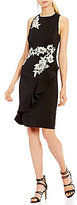 Jax Floral Applique Ruffle Front Dress
