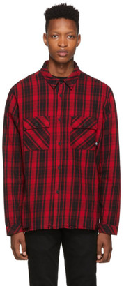 Marcelo Burlon County of Milan Red and Black Check Shirt