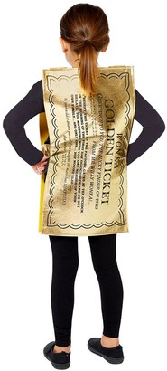 Willy Wonka Golden Ticket Costume