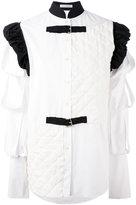 J.W.Anderson buckled patchwork shirt - women - Cotton/Linen/Flax - 6