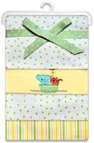 SpaSilk Baby-Girls Newborn 4 Pack 100% Cotton Flannel Receiving Blanket, /Flowers