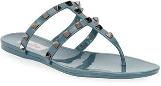 Valentino Summer Rockstud Jelly Sandals