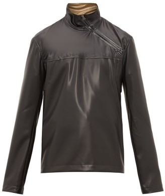 Acne Studios Ozark Latex Asymmetric-zip Jacket - Black