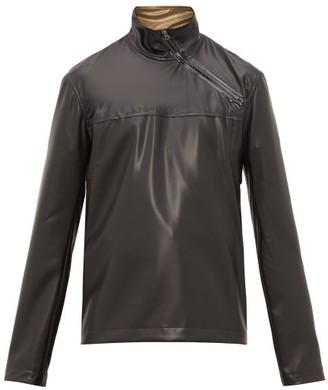 Acne Studios Ozark Latex Asymmetric-zip Jacket - Mens - Black