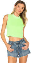 Cotton Citizen The Monaco Crop Tank in Green. - size M (also in S,XS)