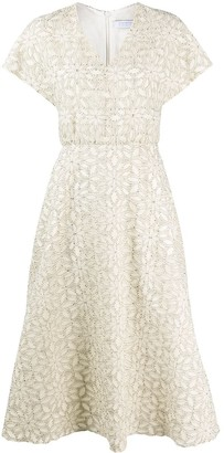 Harris Wharf London floral-pattern midi dress