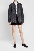 Alexander Wang Distressed Denim Jacket with Embroidery