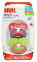 NUK Orthodontic Latex Pacifiers Pink & Purple- Size 1 (0-6 Months)