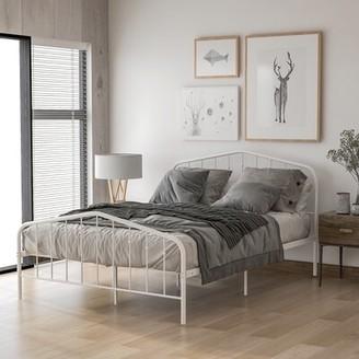 Gracie Oaks Erden Platform Bed Size: Full, Color: White