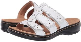 Clarks Leisa Spring (White Leather) Women's Sandals