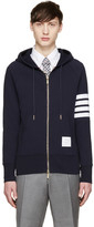 Thom Browne Navy Striped Armband Hoodie