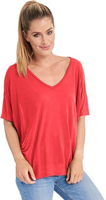 LAmade Menlow Micromodal Tee (American Beauty) Women's Clothing