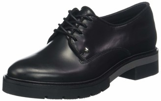 Tommy Hilfiger Women's Metallic Leather Lace Up Derbys