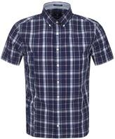 Gant Chambray Check Shirt Navy