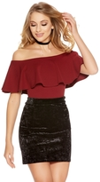 Quiz Black Crushed Velvet High Waist Bodycon Skirt