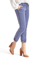 Gap Girlfriend velvet-trim chino