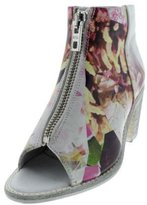 Diesel Womens Chelsea Show Cox Leather Open-Toe Ankle Boots Multi 7.5