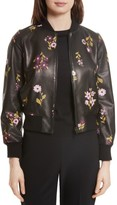 Kate Spade Women's In Bloom Leather Bomber Jacket