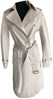 ICB Beige Cotton Trench Coat for Women