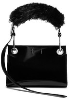 Calvin Klein Collection Calf Belted Hobo + Faux Fur