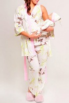 Olian Pink Floral Maternity Pajama Set