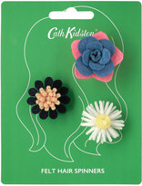 Cath Kidston Winfield Flowers Set of 3 Hair Spinners