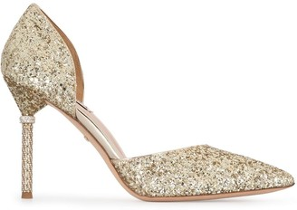 Badgley Mischka Ozara glittered pumps