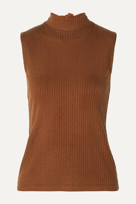 REJINA PYO + Net Sustain Rebecca Tie-neck Ribbed Tencel-blend Jersey Top
