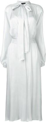 Irina Schrotter long tie-waist dress