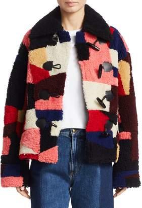 Alexander McQueen Patchwork Shearling Jacket
