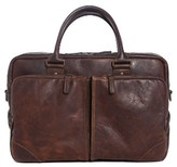 Moore & Giles Men's Haythe Leather Briefcase - Brown