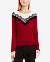 Vince Camuto Lace-Trim Sweater