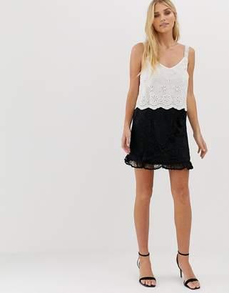 N. Ebonie Ivory ebonie ivory Wrap Skirt In Crochet Co-Ord-Black