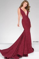 Jovani Fitted Plunging Neckline Prom Dress 47075