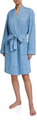Derek Rose Kelburn Plaid Kimono Robe