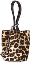Alexander Wang Roxy Mini Leather Calf Hair Bucket Bag, Animal Print