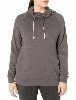 Champion Women's Plus-Size French Terry Funnel Neck Top