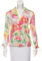 Ralph Lauren Black Label Floral Print Silk Top w/ Tags